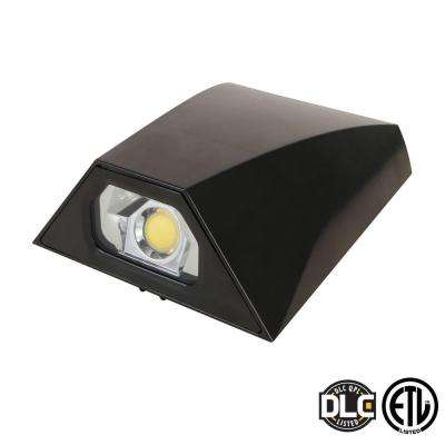 20-Watt Bronze Mini LED Outdoor Wall Pack Natural Light (5000K)