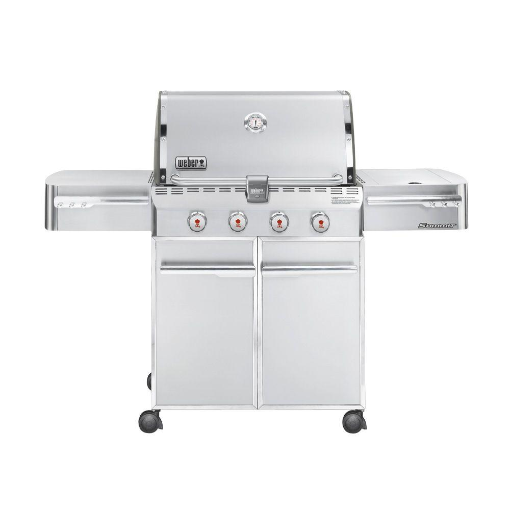 Weber Summit S-420 4-Burner Propane Gas Grill in Stainless Steel