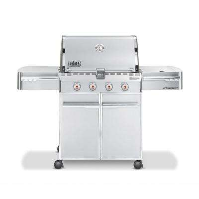 Summit S-420 4-Burner Propane Gas Grill in Stainless Steel