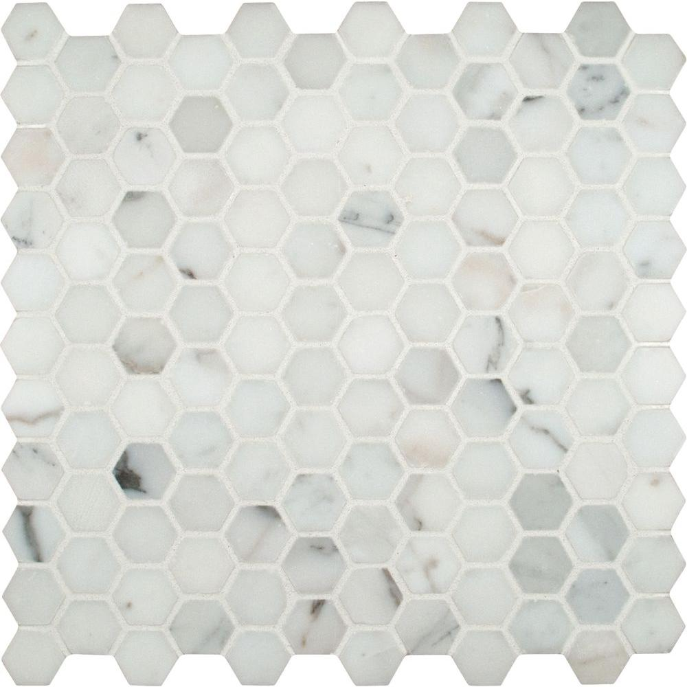 MS International Calacatta Gold Hexagon 12 in x 12 in x