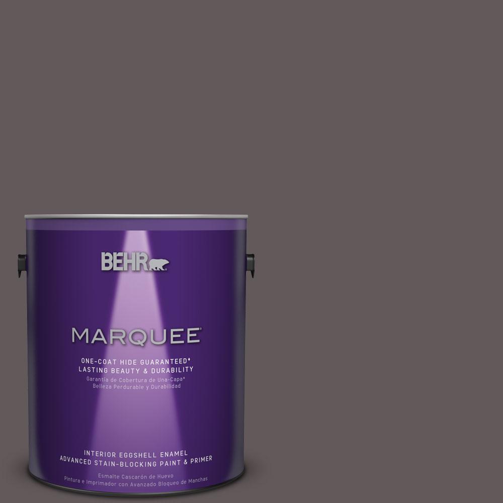 1 gal. #T14-10 Coffee Bar Eggshell Enamel Interior Paint