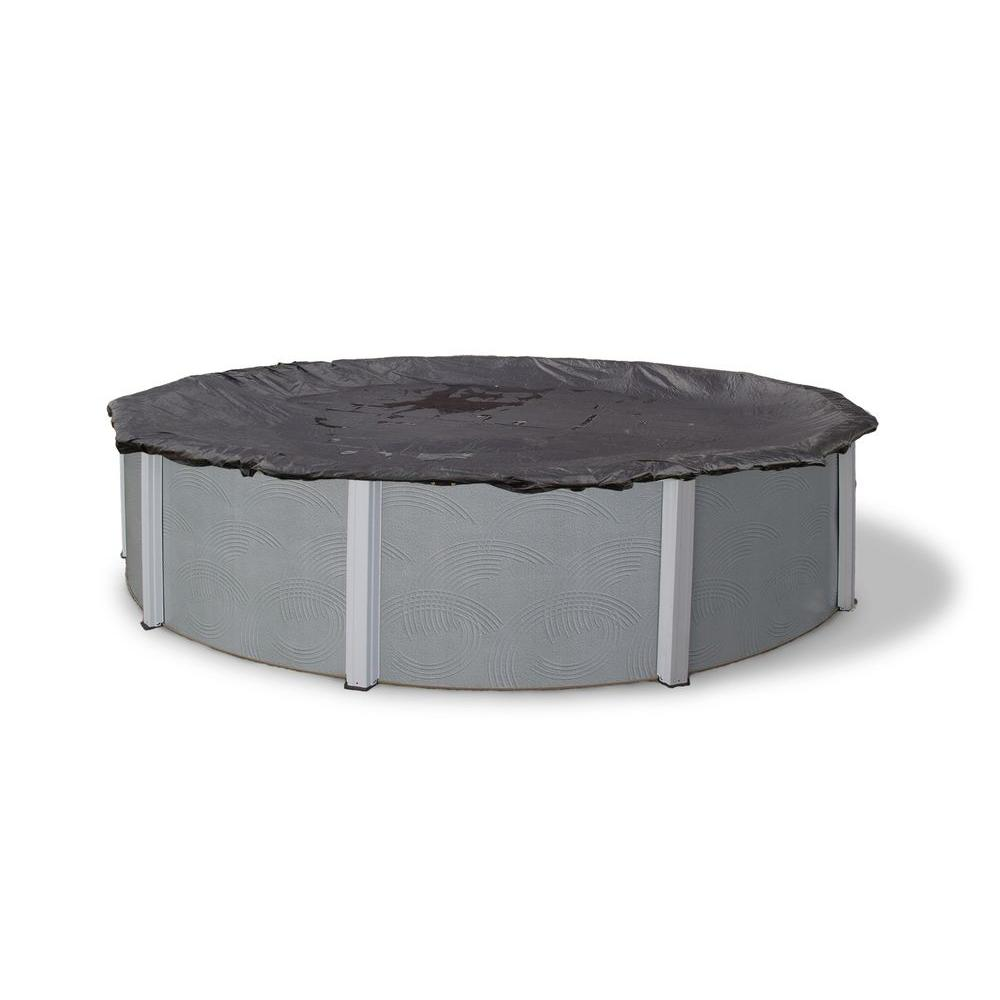 28 ft. Round Black Rugged Mesh Above Ground Winter Pool Cover
