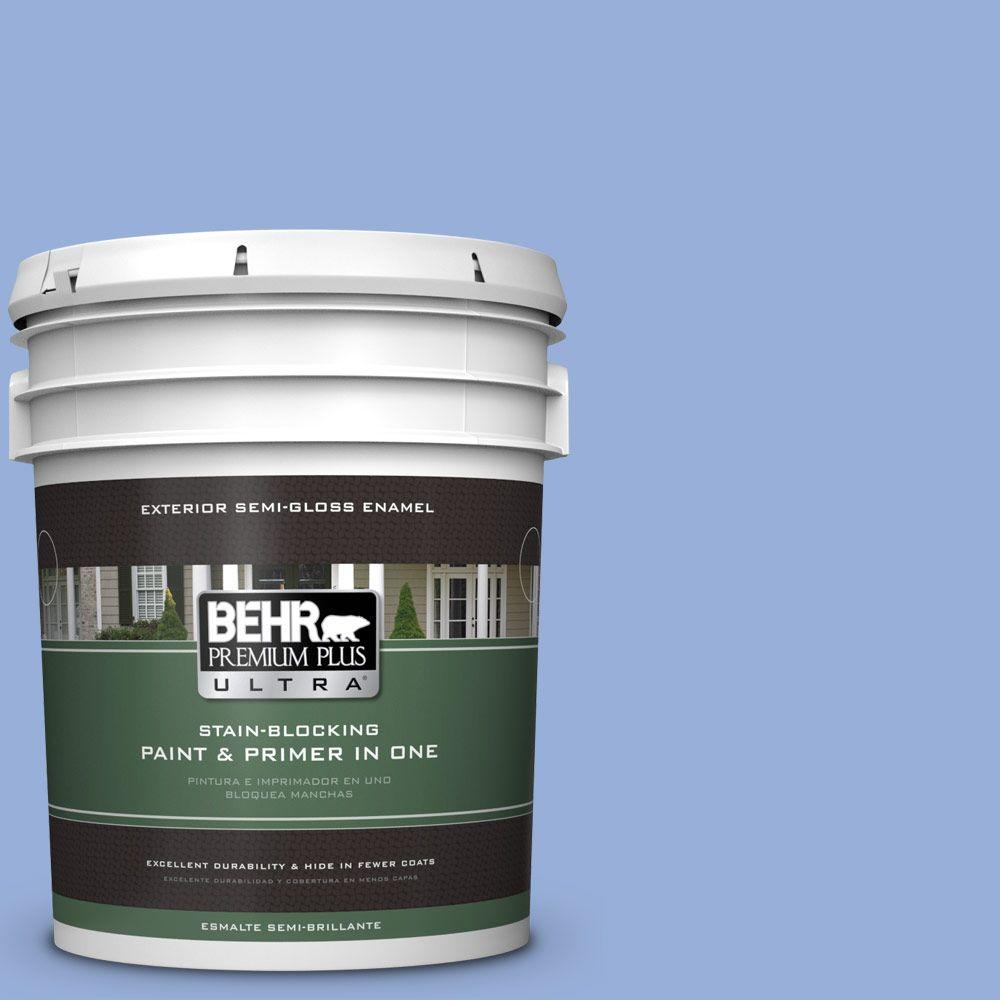 BEHR Premium Plus Ultra 5-gal. #590B-4 Anemone Semi-Gloss Enamel Exterior Paint