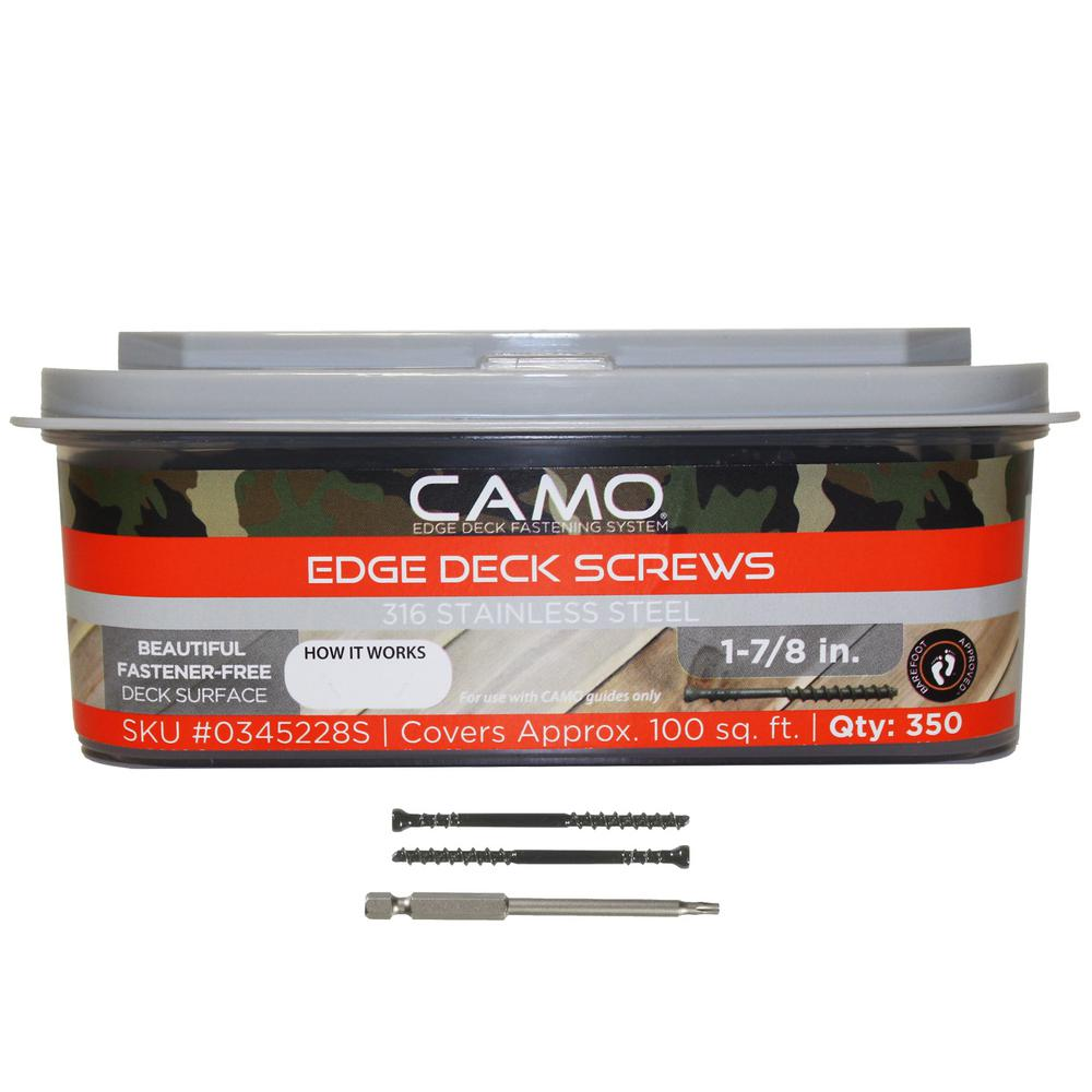 CAMO 1-7/8 in. 316 Stainless Steel Trimhead Deck Screw (350-Count)