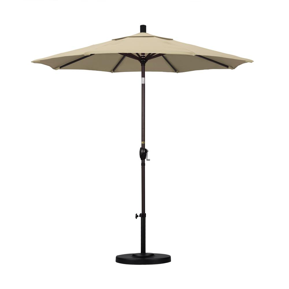 7-1/2 ft. Fiberglass Push Tilt Patio Umbrella in Beige Pacifica
