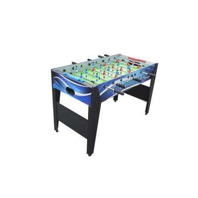 Allure 48 in. Foosball Table with Spring-Loaded Telescopic Safety Rods in Black and Blue Graphics