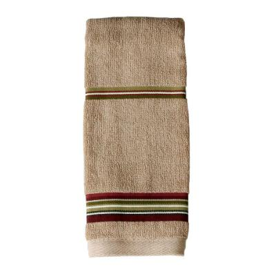 Madison Stripe 16 in. W x 28 in. L Cotton Hand Towel in Red