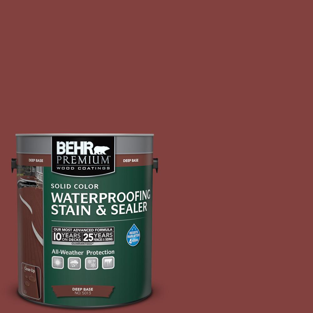 1 gal. #S-H-170 Red Brick Solid Color Waterproofing Exterior Wood Stain