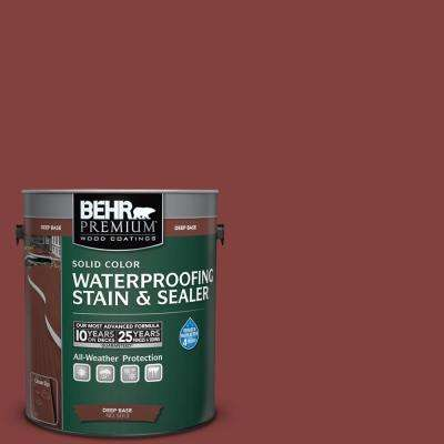 1 gal. #S-H-170 Red Brick Solid Waterproofing Stain and Sealer
