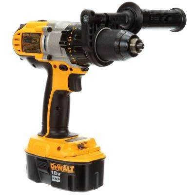 18-Volt XRP NiCd Cordless 1/2 in. Hammer Drill/Driver with (2) Batteries 2.4Ah, 1-Hour Charger and Case