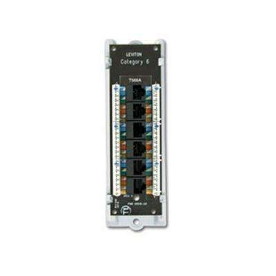 Structured Media 1x6 Cat 6 Board with Bracket