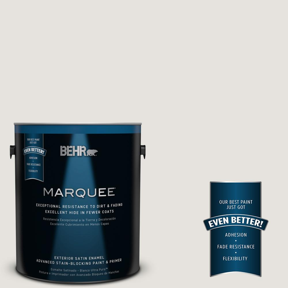 BEHR MARQUEE 1-gal. #PPU18-8 Painter's White Satin Enamel Exterior Paint