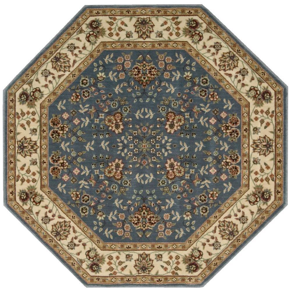 Nourison Persian Arts Light Blue 8 Ft Octagon Area Rug