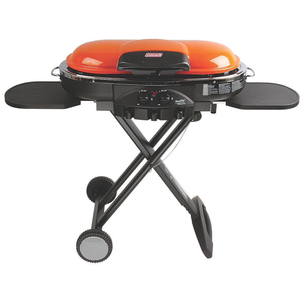 Coleman RoadTrip LXE 2-Burner Portable Propane Grill in Orange Coleman RoadTrip LXE 2-Burner Portable Propane Grill in Orange