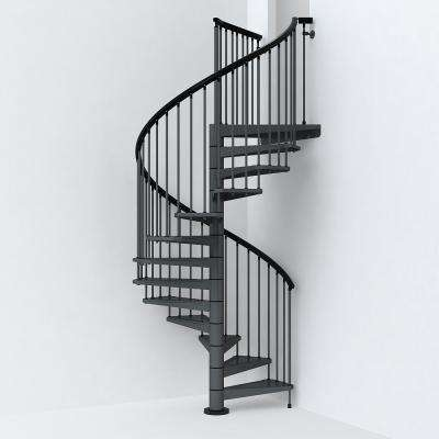 SKY030 63 in. Iron Grey Spiral Staircase Kit