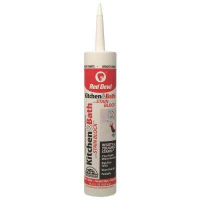 Premium Kitchen and Bath with Stain Block 10.1 oz. White Caulk