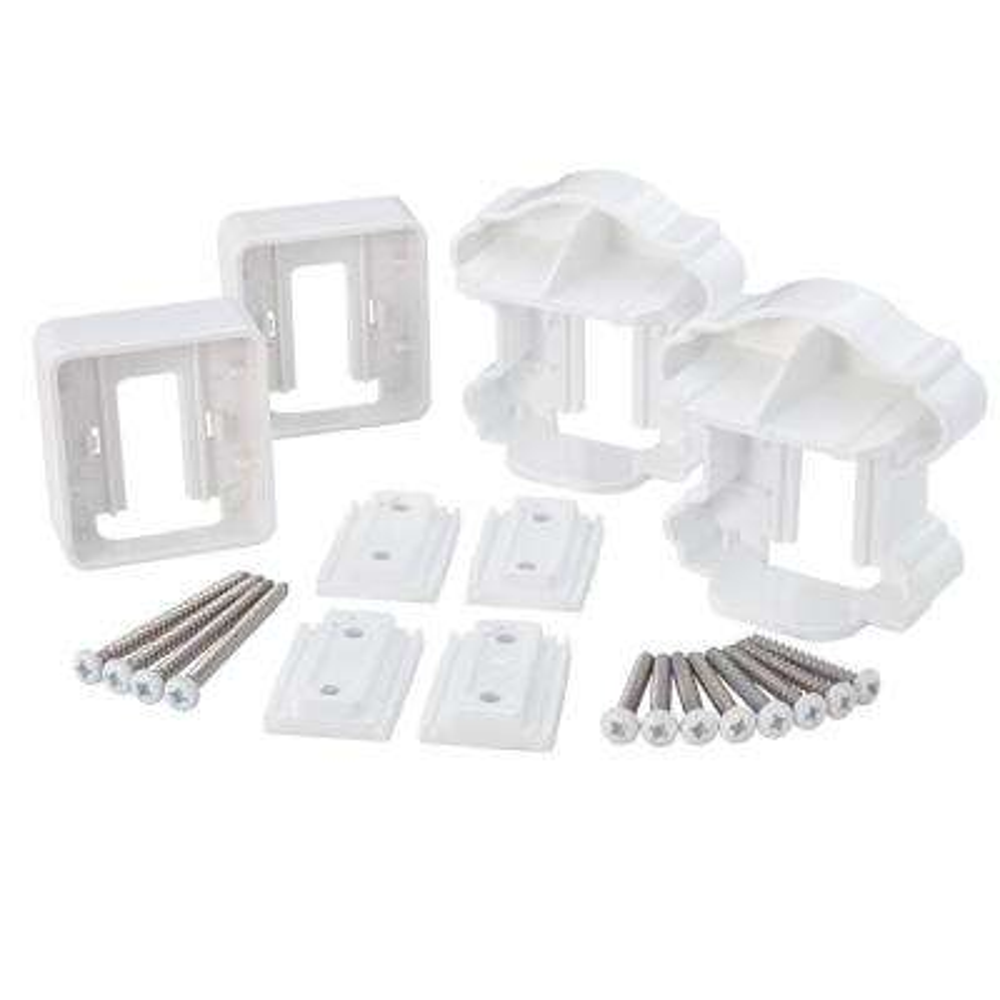 ArmorGuard Classic White Plastic Line Rail Hardware Kit