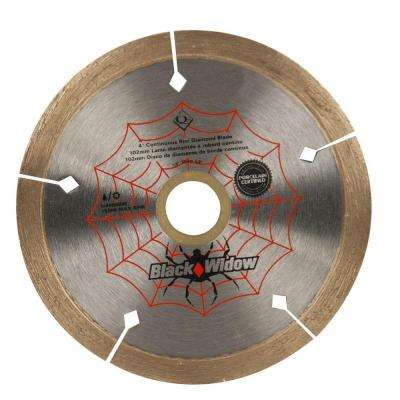 4 in. Black Widow Micro-Segmented Diamond Blade for Porcelain and Ceramic Tile