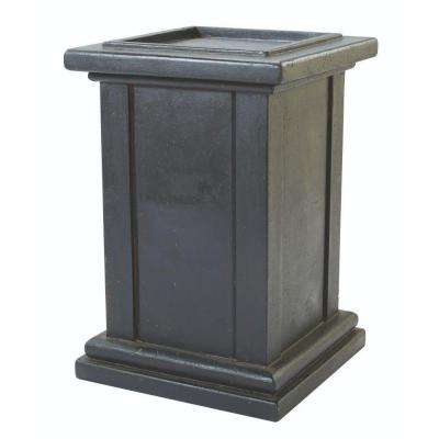 Roman 21 in. W x 31 in. H Aged Charcoal Pedestal