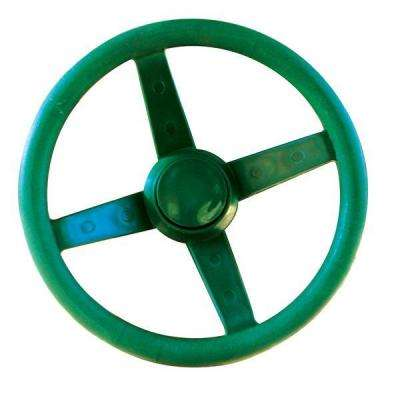 Steering Wheel in Green