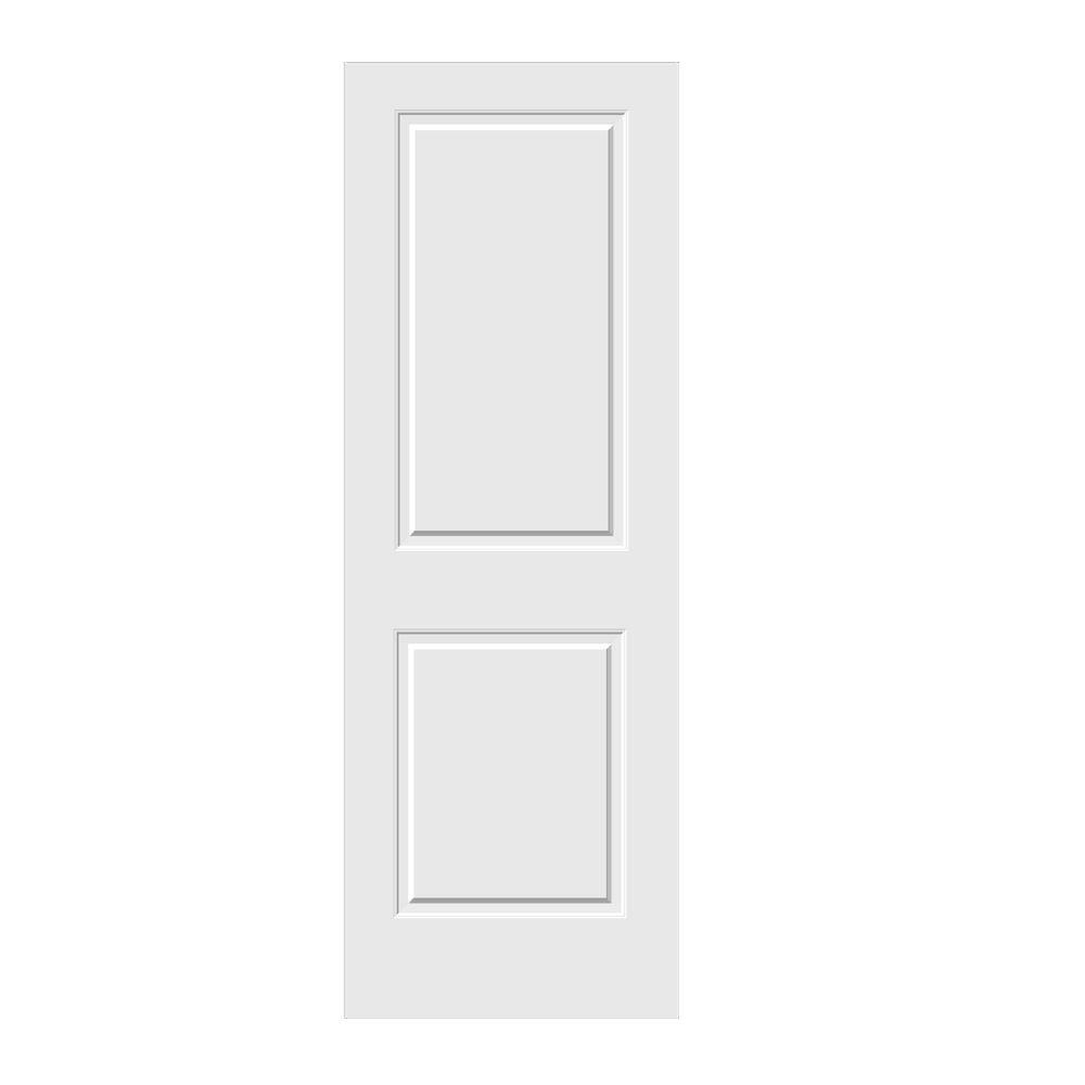 JELD-WEN 28 in. x 80 in. Primed C2020 2-Panel Solid Core Premium Composite Interior Door Slab