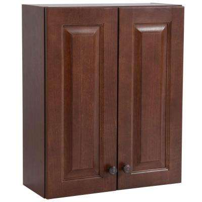 Regency 20-1/2 in. W x 25-63/100 in. H x 7-3/4 in. D Over the Toilet Bathroom Storage Wall Cabinet in Auburn