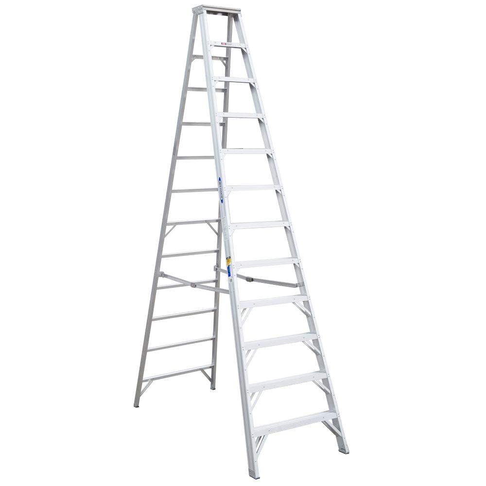 12 ft. Aluminum Step Ladder with 375 lb. Load Capacity Type