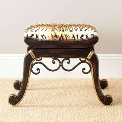 Maralyn Tiger Print Vanity Stool