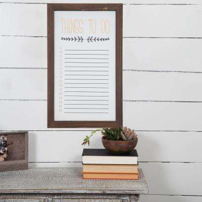 Things To Do Brown Dry Erase Memo Board