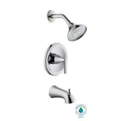 Jax Single-Handle 1-Spray Pressure Balance Tub and Shower Faucet in Chrome (Valve Included)