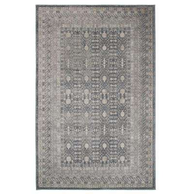 Vintage Greek Grey Brown 8 ft. x 10 ft. Area Rug