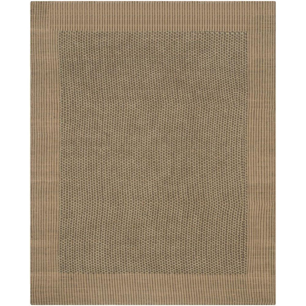 Safavieh Natural Fiber Charcoal Green 8 Ft X 10 Ft Area