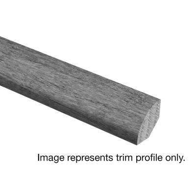 Stand Woven Bamboo Charcoal 3/4 in. Thick x 3/4 in. Wide x 94 in. Length Hardwood Quarter Round Molding