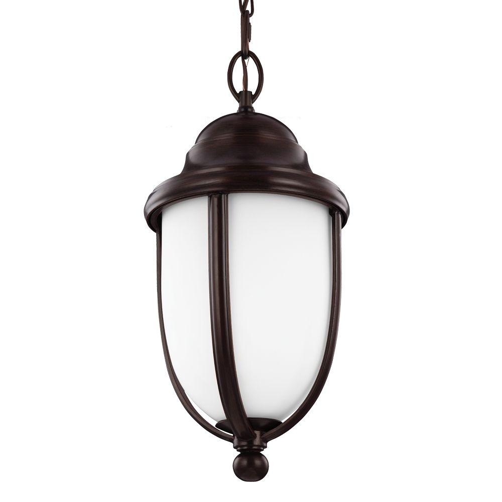 Vintner Outdoor 1-Light Heritage Bronze Outdoor Pendant