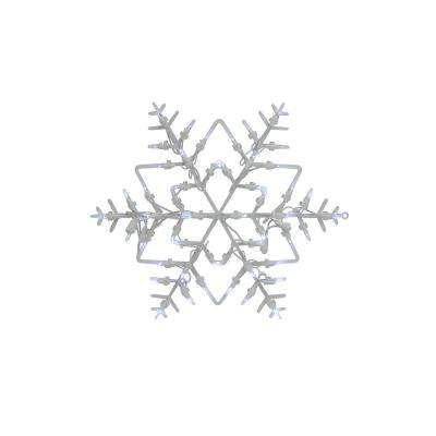 18 in. Christmas Lighted Snowflake Window Silhouette Decoration (4-Pack)