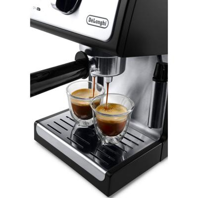 DeLonghi-15-Bar Black Stainless Steel Espresso Machine and Cappuccino Maker with Manual Frother
