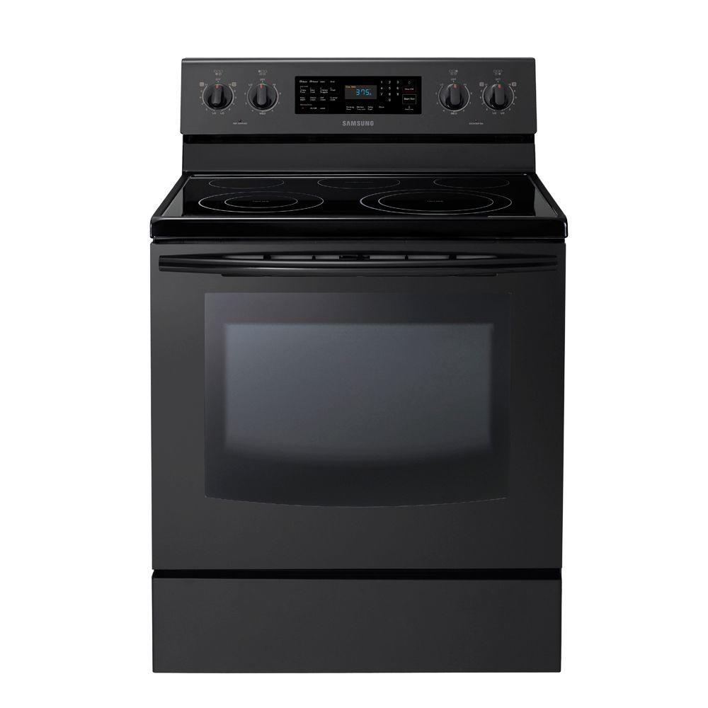 Samsung 5.9 cu. ft. Electric Range with Self-Cleaning Convection Oven in Black