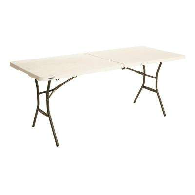 23ca7a81091 Compare. 72 in. Almond Plastic Portable Folding Card Table