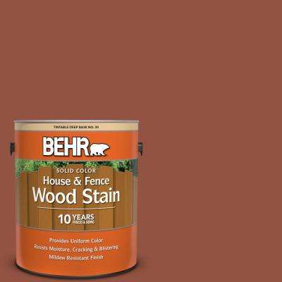 1 gal. #SC-130 California Rustic Solid Color House and Fence Exterior Wood Stain