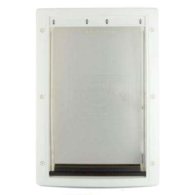 13-5/8 in. x 23 in. x Large White Plastic Pet Door