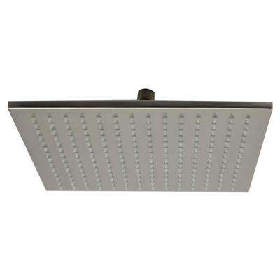 1-Spray 12 in. Fixed Showerhead with LED Lighting in Brushed Nickel