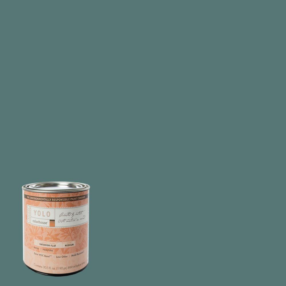 YOLO Colorhouse 1-Qt. Wool .05 Flat Interior Paint-DISCONTINUED