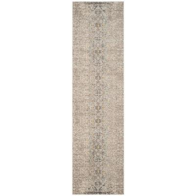 Monaco Gray/Multi 2 ft. 2 in. x 14 ft. Runner Rug