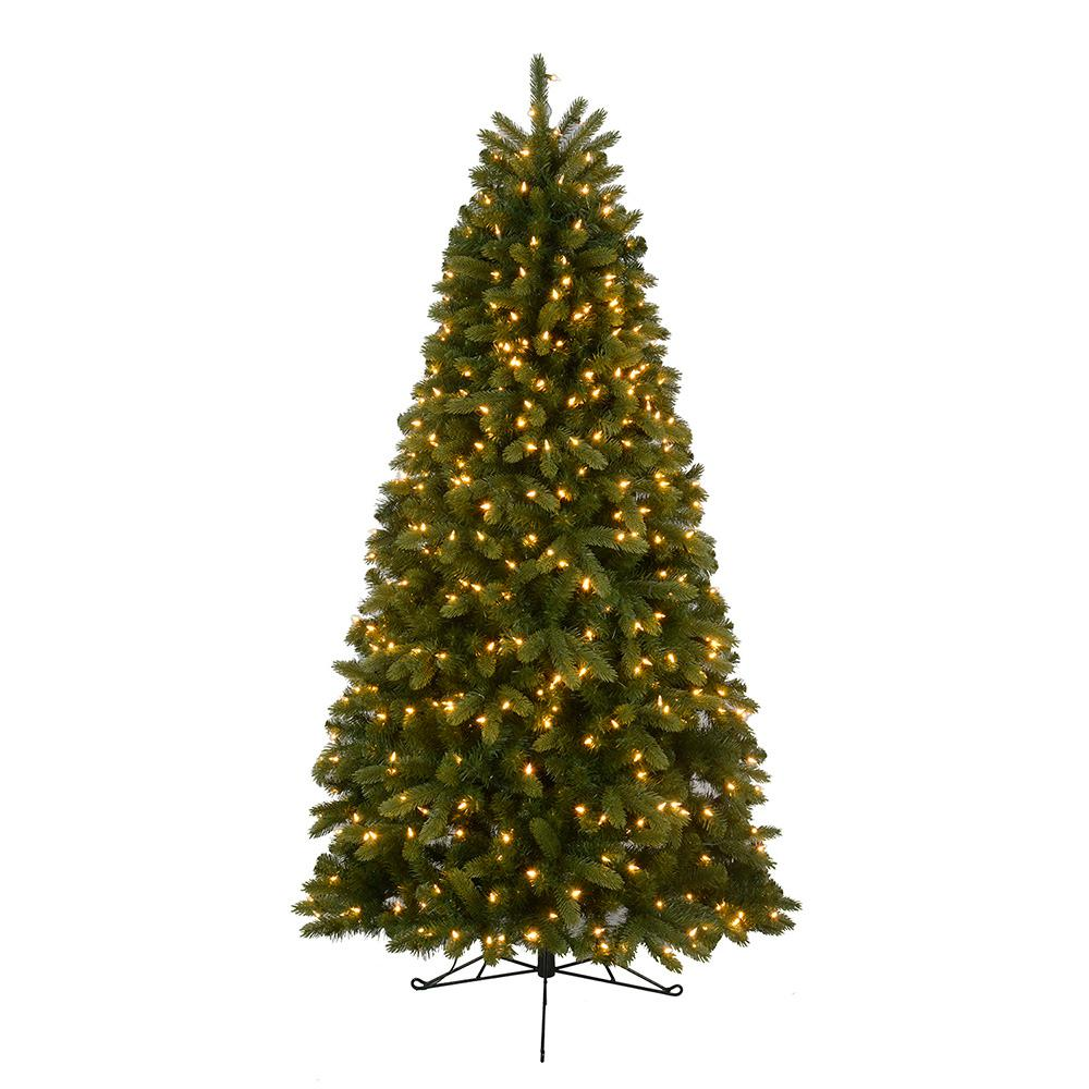 Pre Lit Christmas Tree Fuses: Home Accents Holiday 7 Ft. Pre-Lit LED Hayden Fir Half