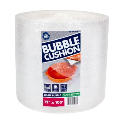 3/16 in. x 12 in. x 100 ft. Clear Perforated Bubble Cushion Wrap (2-Pack)