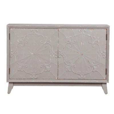 Lindsey Disrressed Gray Console Cabinet