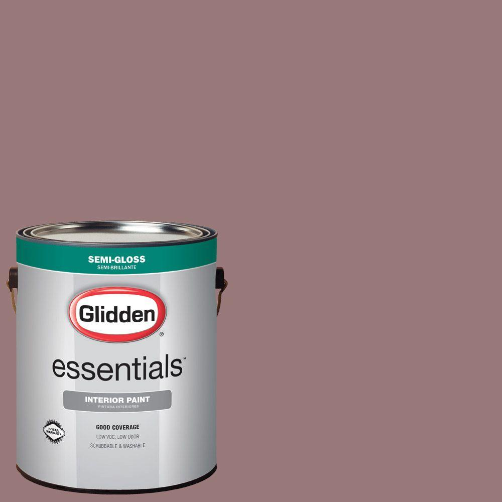 Reviews For Glidden Essentials 1 Gal Hdgr37 Dusty Mauve Semi Gloss Interior Paint Hdgr37e 01sn The Home Depot