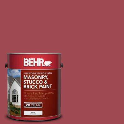 1 gal. #PPU1-7 Powder Room Satin Interior/Exterior Masonry, Stucco and Brick Paint