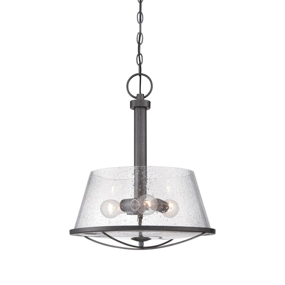 Darby 3-Light Weathered Iron Pendant