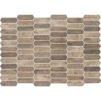 Driftwood Picket 9.5 in. x 14 in. x 6 mm Glass Mesh-Mounted Mosaic Tile (13.95 sq. ft./case)